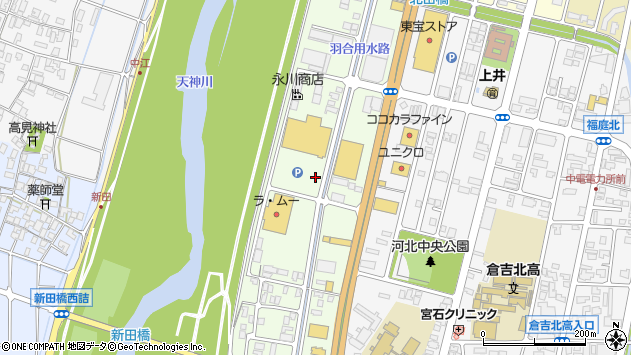 〒682-0041 鳥取県倉吉市河北町の地図