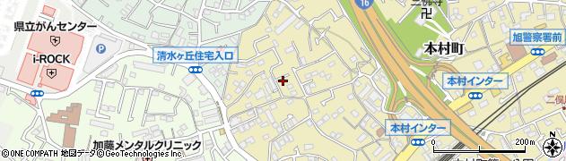 神奈川県横浜市旭区本村町周辺の地図