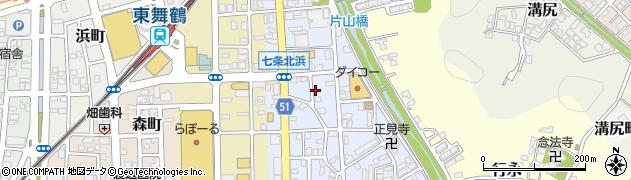 京都府舞鶴市北浜町周辺の地図
