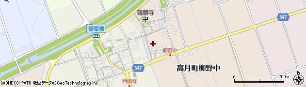 滋賀県長浜市高月町柳野中周辺の地図