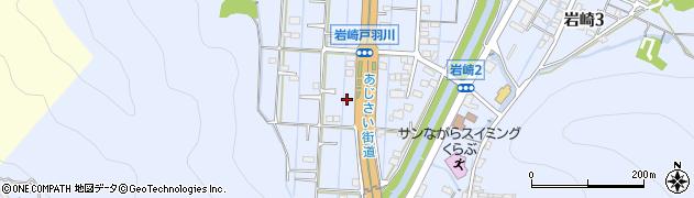 岐阜県岐阜市岩崎周辺の地図