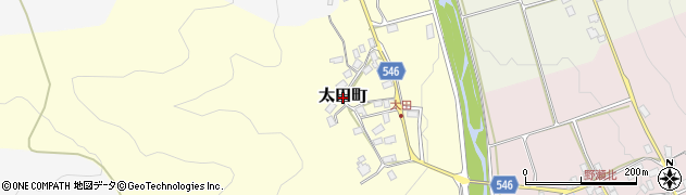 滋賀県長浜市太田町周辺の地図