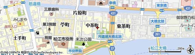 島根県松江市西茶町周辺の地図