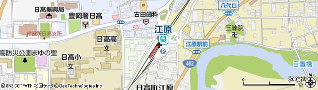 兵庫県豊岡市周辺の地図