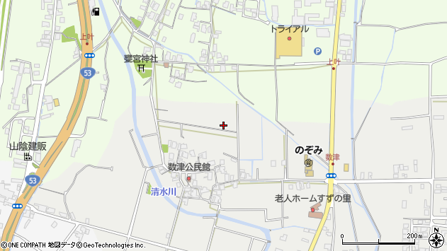 〒680-0875 鳥取県鳥取市数津の地図