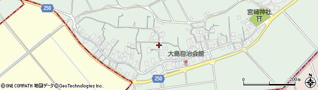 鳥取県北栄町(東伯郡)大島周辺の地図