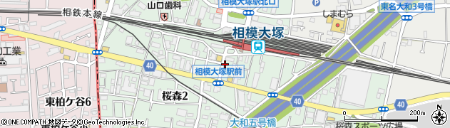 神奈川県大和市桜森周辺の地図