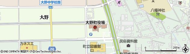 岐阜県大野町(揖斐郡)周辺の地図