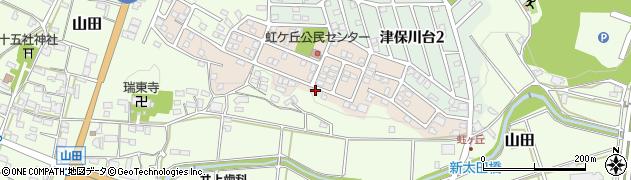 岐阜県関市虹ケ丘北周辺の地図