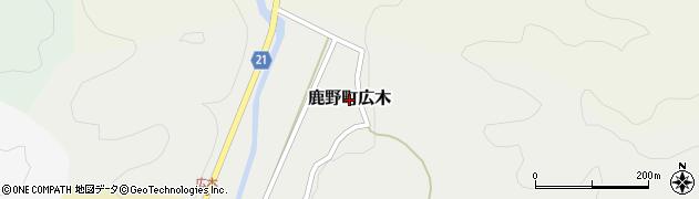 鳥取県鳥取市鹿野町広木周辺の地図