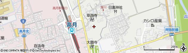 滋賀県長浜市高月町落川周辺の地図