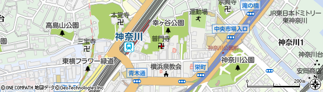 普門寺周辺の地図