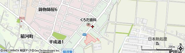 岐阜県関市平成通周辺の地図