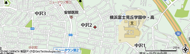 神奈川県横浜市旭区中沢周辺の地図