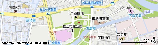 島根県松江市学園南周辺の地図