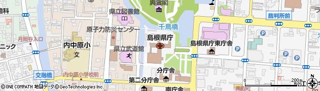 島根県周辺の地図