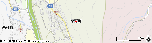 滋賀県長浜市草野町周辺の地図