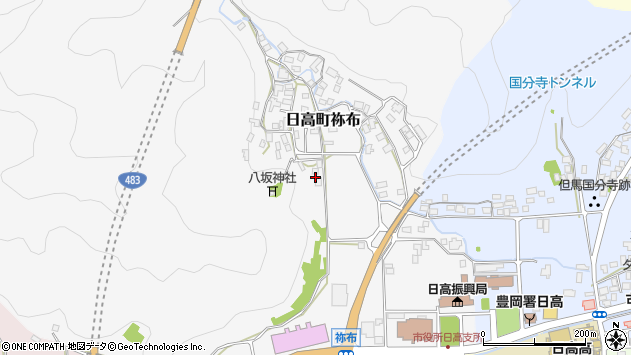 〒669-5305 兵庫県豊岡市日高町祢布の地図