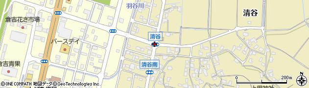 清谷周辺の地図