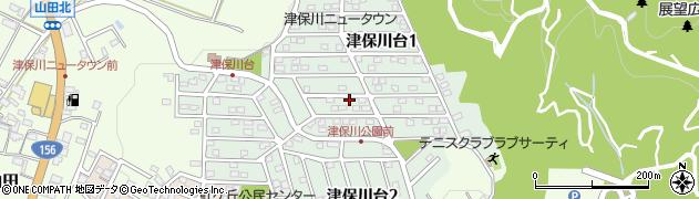岐阜県関市津保川台周辺の地図