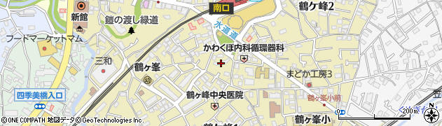 神奈川県横浜市旭区鶴ケ峰周辺の地図