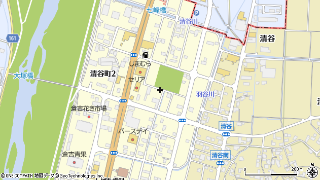 〒682-0017 鳥取県倉吉市清谷町の地図