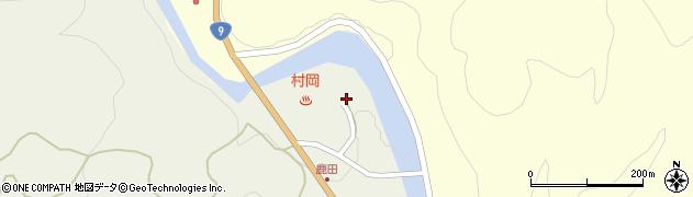 村岡温泉周辺の地図