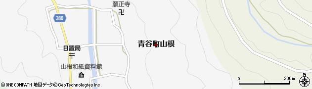 鳥取県鳥取市青谷町山根周辺の地図