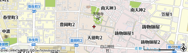 岐阜県関市天徳町周辺の地図