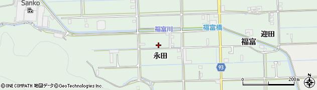 岐阜県岐阜市福富(永田)周辺の地図