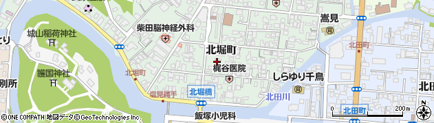 島根県松江市北堀町周辺の地図