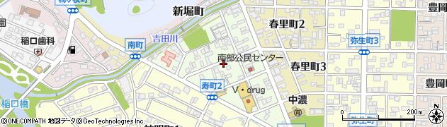 岐阜県関市寿町周辺の地図