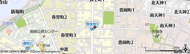 岐阜県関市弥生町周辺の地図