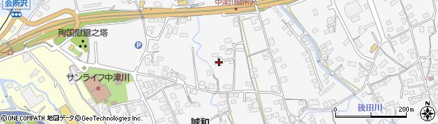 岐阜県中津川市手賀野周辺の地図