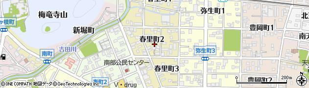 岐阜県関市春里町周辺の地図