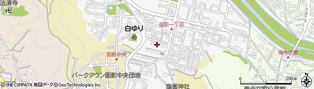 面影団地周辺の地図