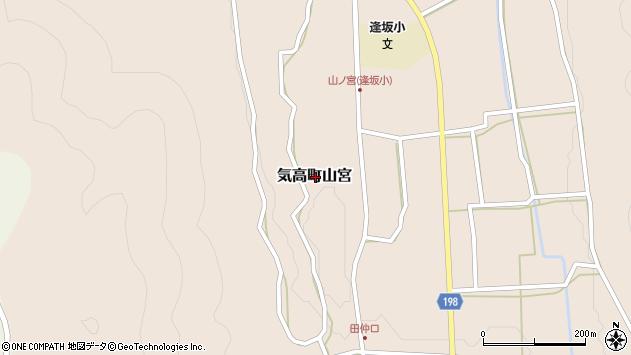 〒689-0345 鳥取県鳥取市気高町山宮の地図