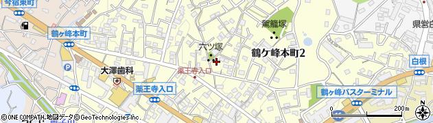 神奈川県横浜市旭区鶴ケ峰本町周辺の地図