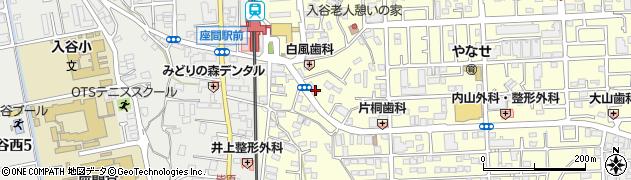 神奈川県座間市入谷周辺の地図