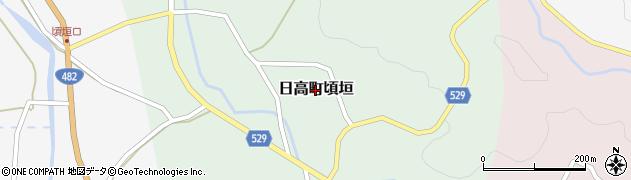 兵庫県豊岡市日高町頃垣周辺の地図