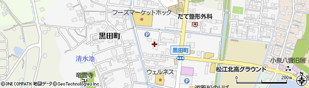 島根県松江市黒田町周辺の地図