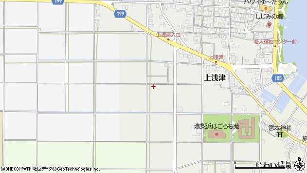 〒682-0712 鳥取県東伯郡湯梨浜町上浅津の地図