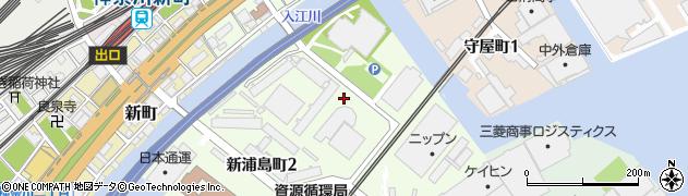 神奈川県横浜市神奈川区新浦島町1丁目周辺の地図