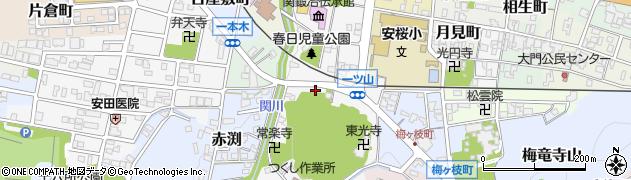岐阜県関市一ツ山町周辺の地図