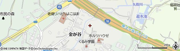 神奈川県横浜市旭区金が谷周辺の地図