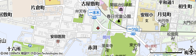 岐阜県関市寺内町周辺の地図