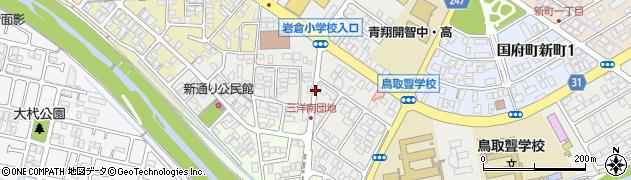 鳥取県鳥取市国府町新通り周辺の地図