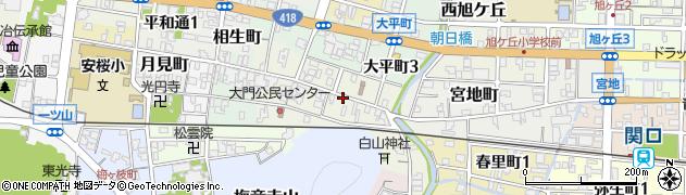 岐阜県関市大門町周辺の地図