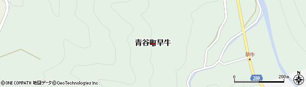 鳥取県鳥取市青谷町早牛周辺の地図