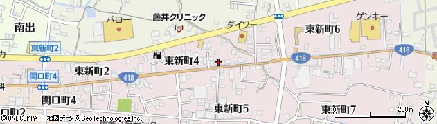 株式会社新東建設周辺の地図